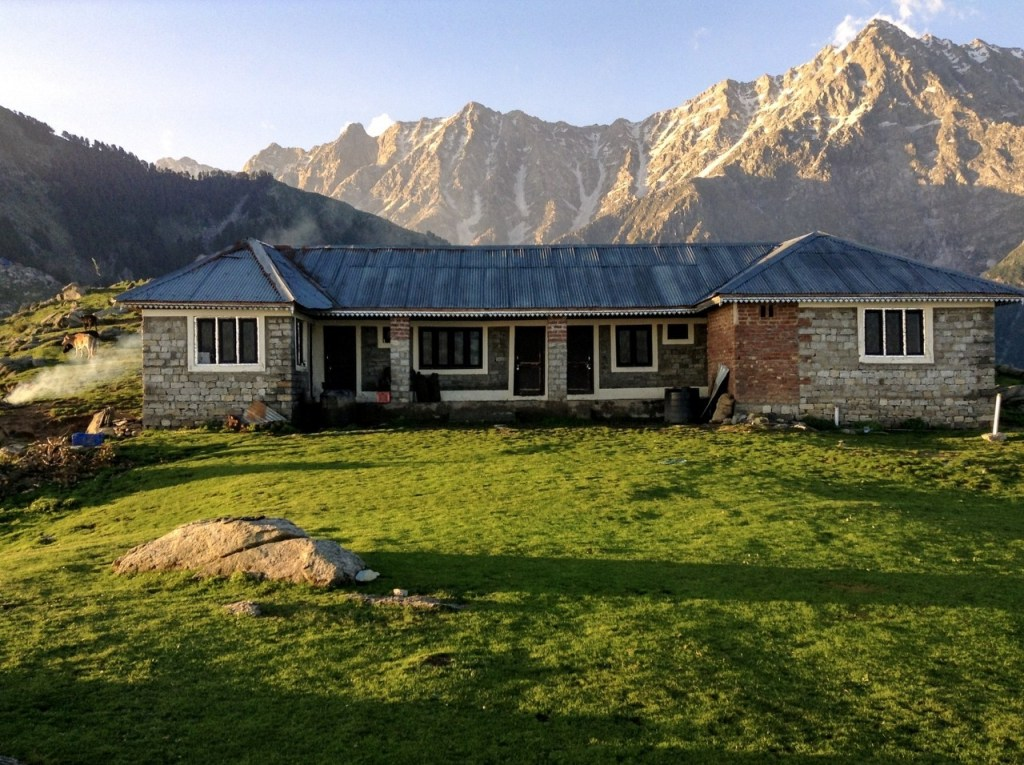Himachal Government rest house on Triund Top