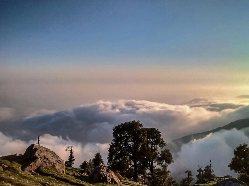 A cloudy view from Triund top