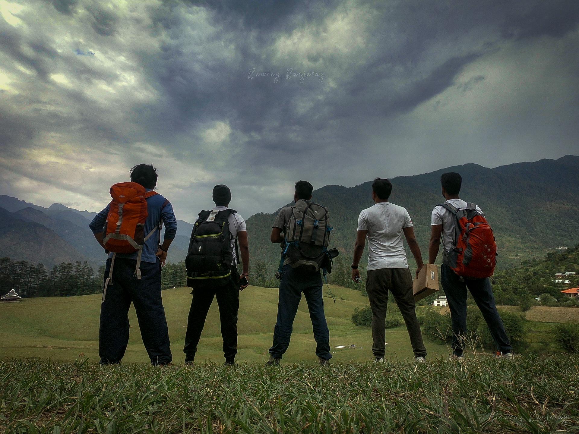 Torists in Shangarh Meadow