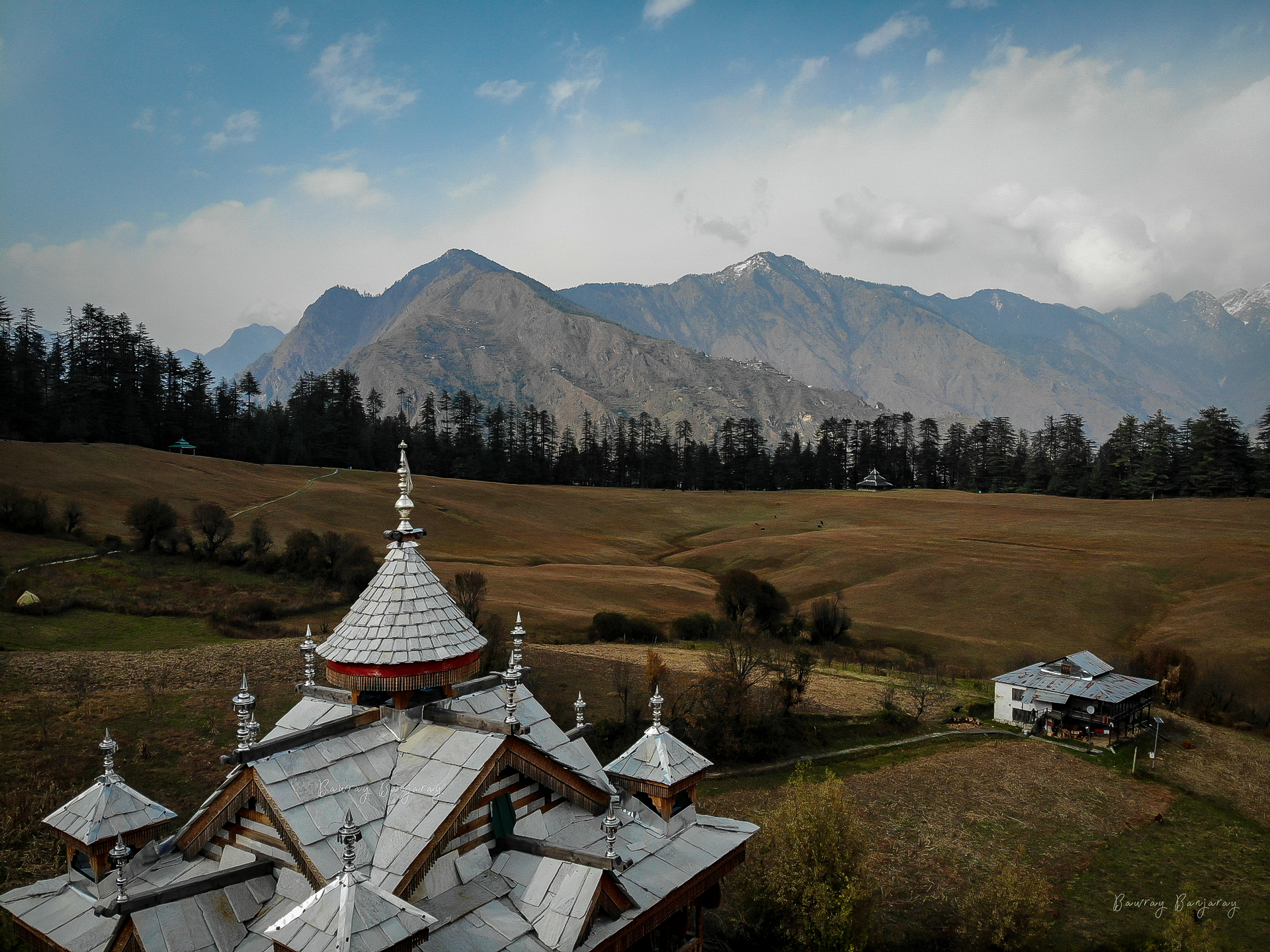 The Shangarh Meadow and the Shangchul Mahadev Temple