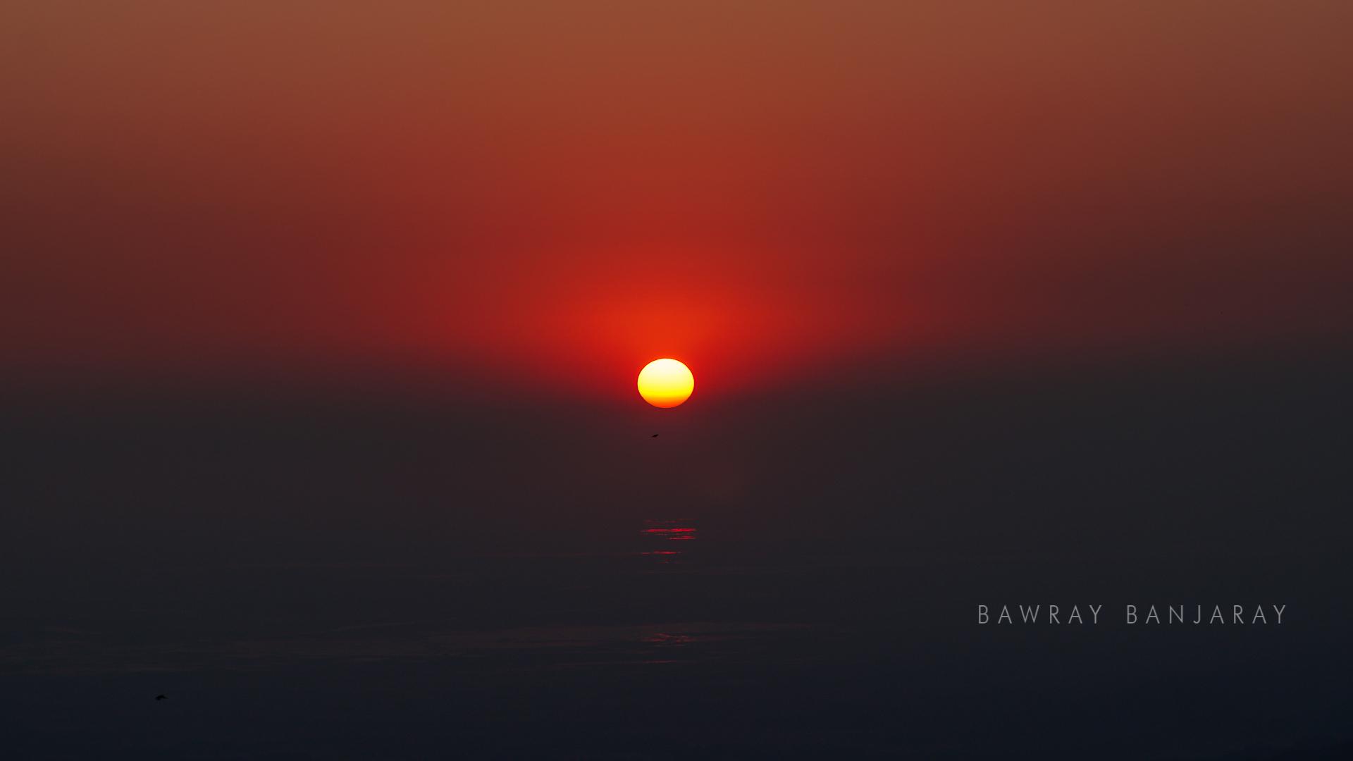 Setting sun while Bawray Banjaray camp in Sohra