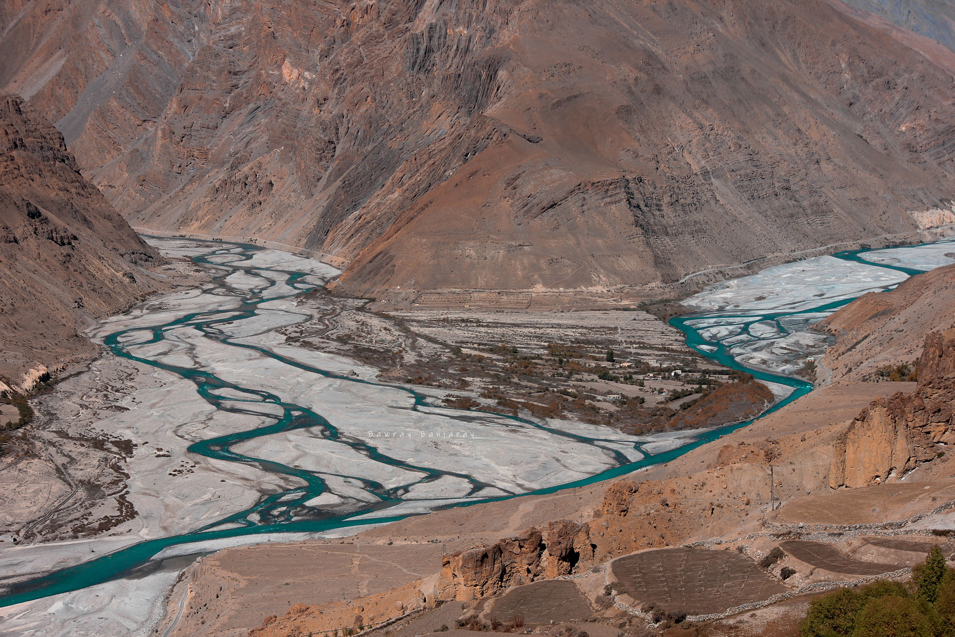 Confluence of Spiti and Pin River