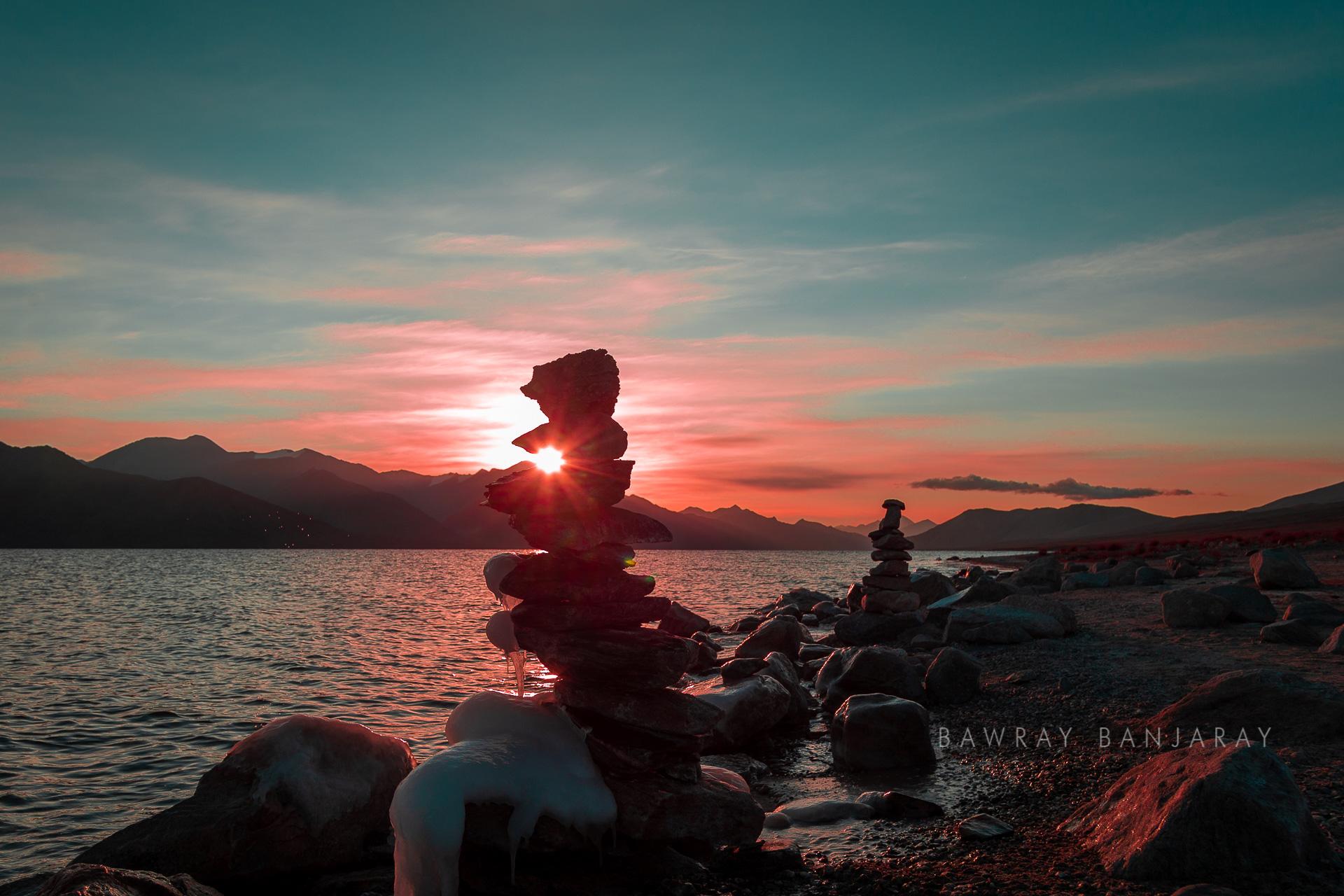 Sunset at Pangong Tso