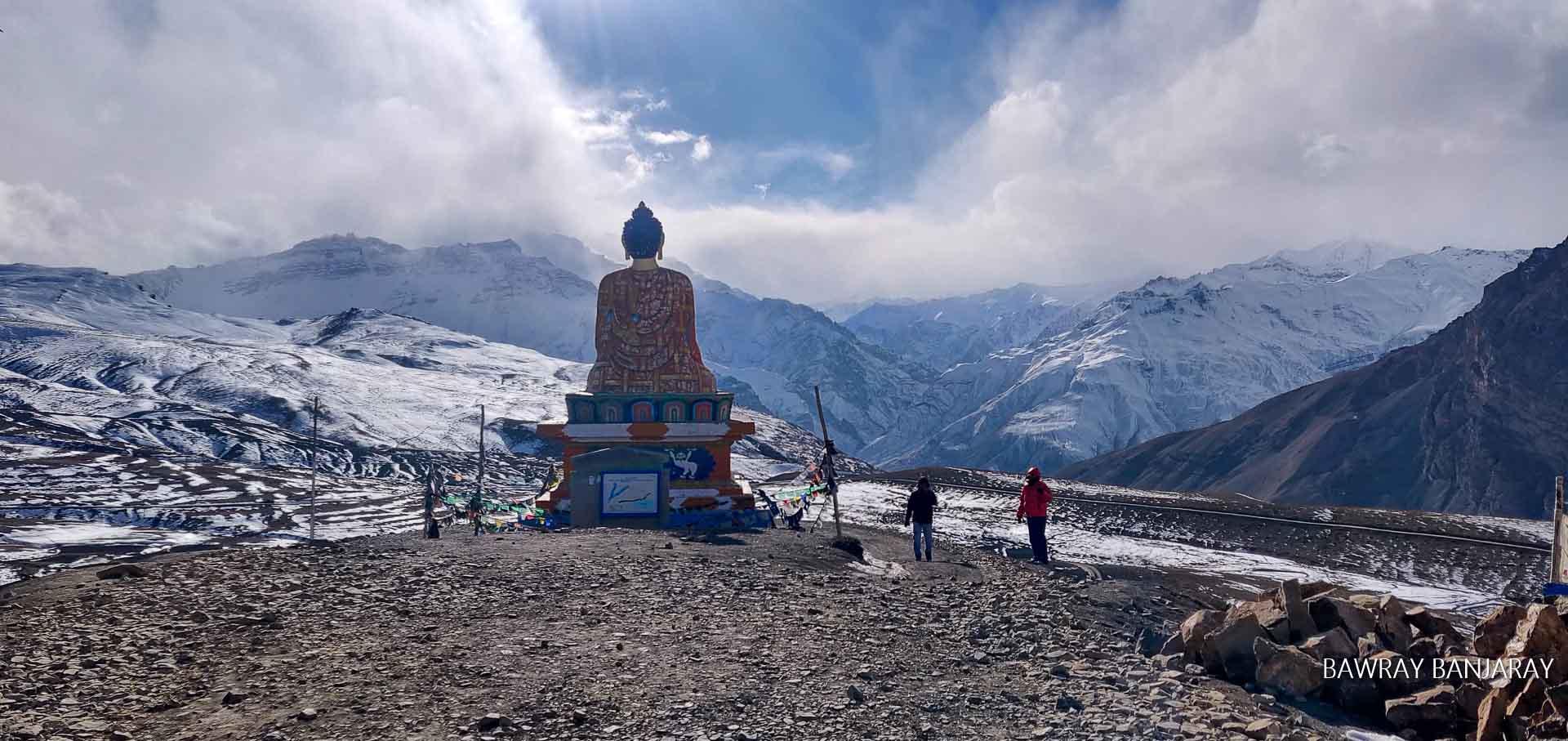 Langza Buddha in winter