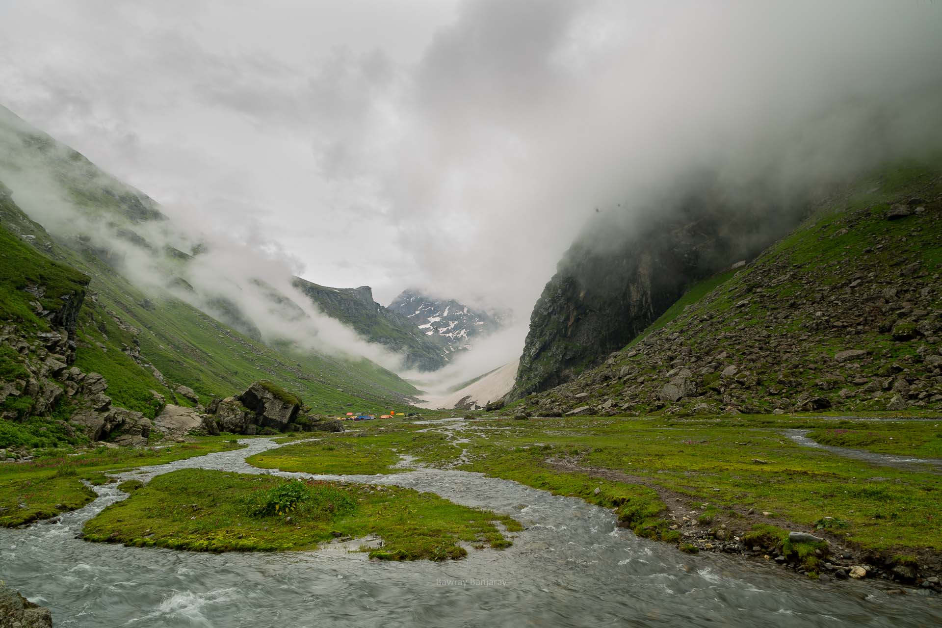 balu ka ghera campsite during hampta pass trek