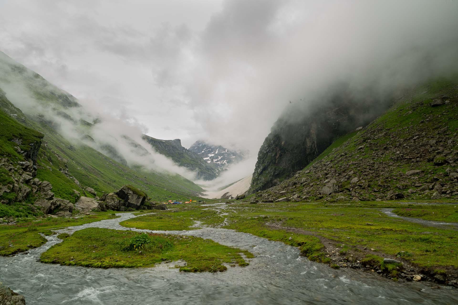 balu ka ghera campsite during hampta pass trek