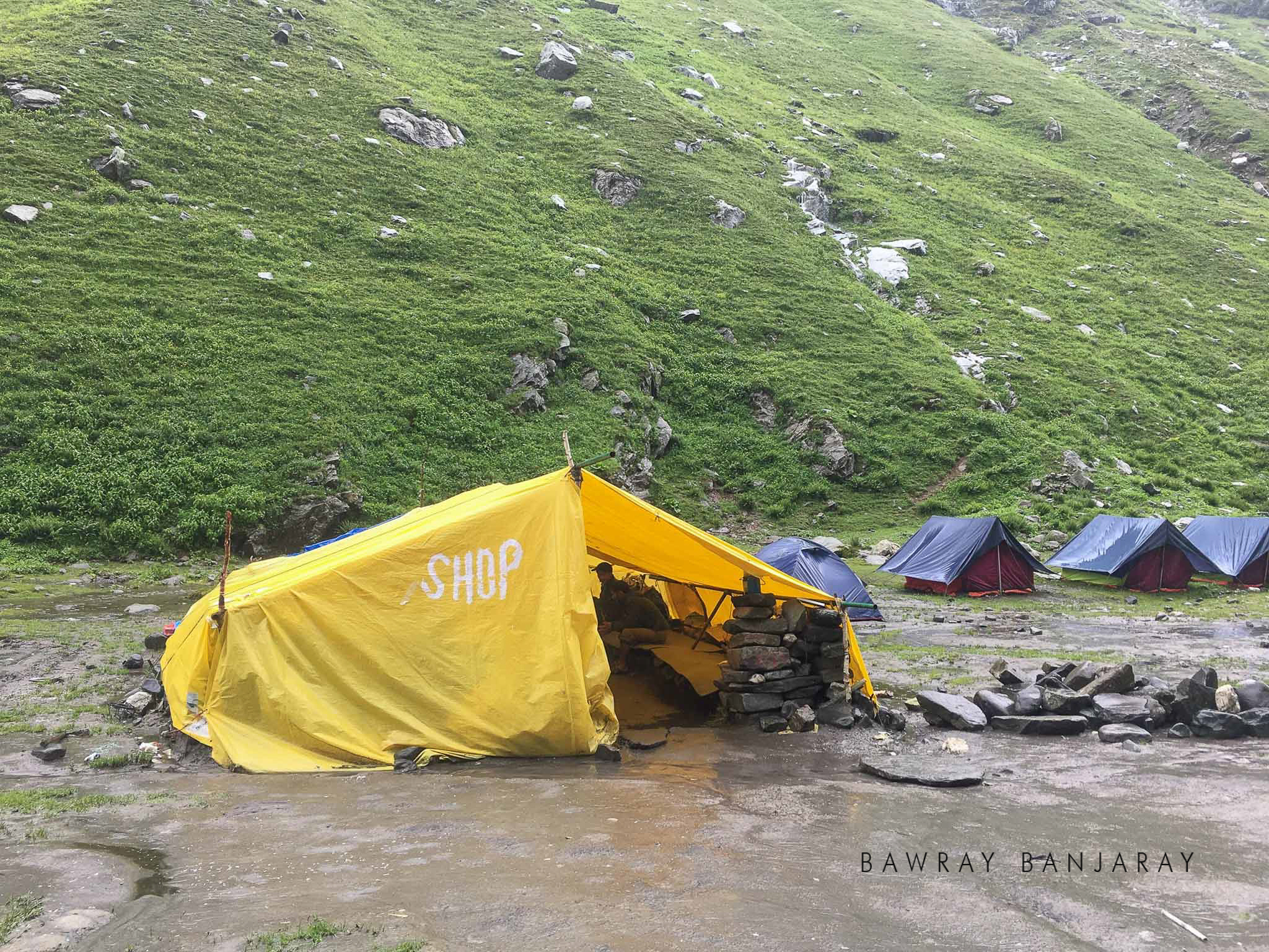 Shop on way to the Hampta Pass Trek
