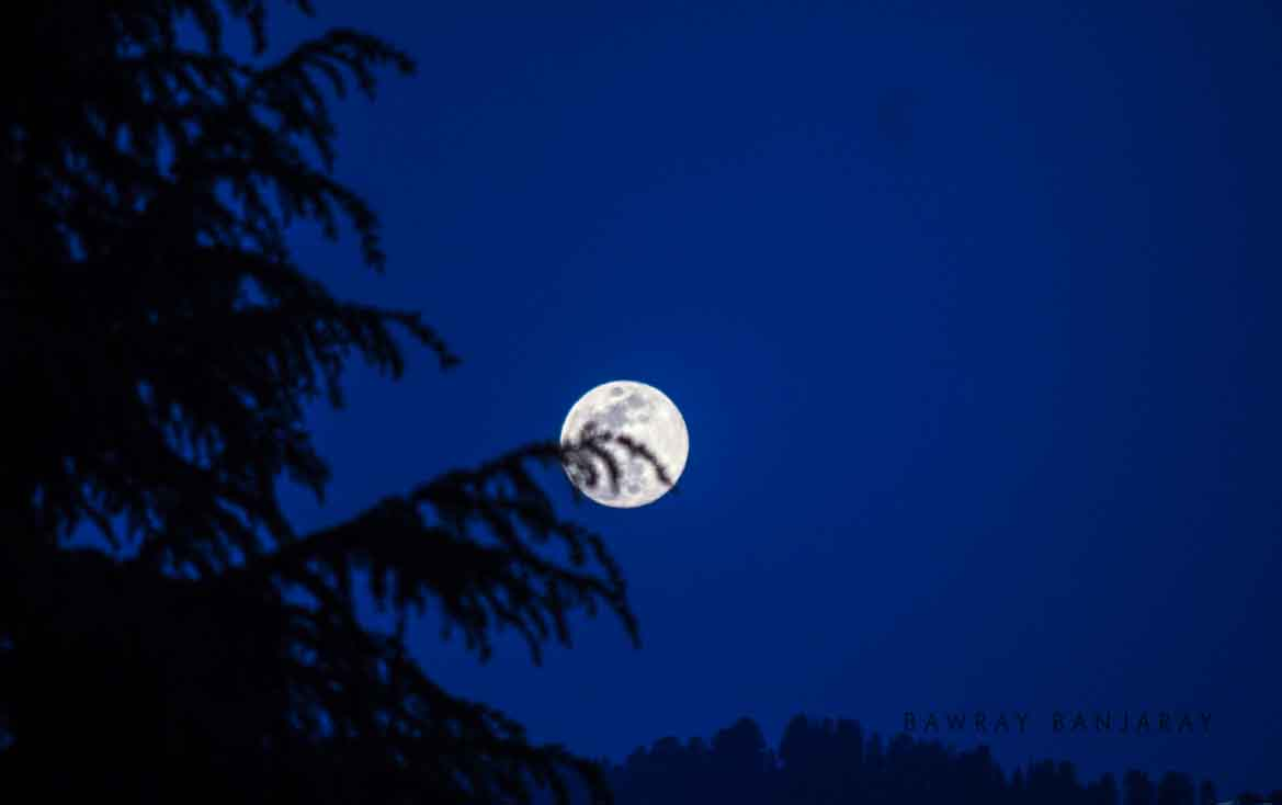 Full moon night in Bhaderwah