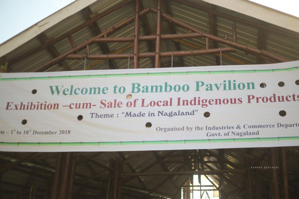 Bamboo Pavilion in Hornbill Festival